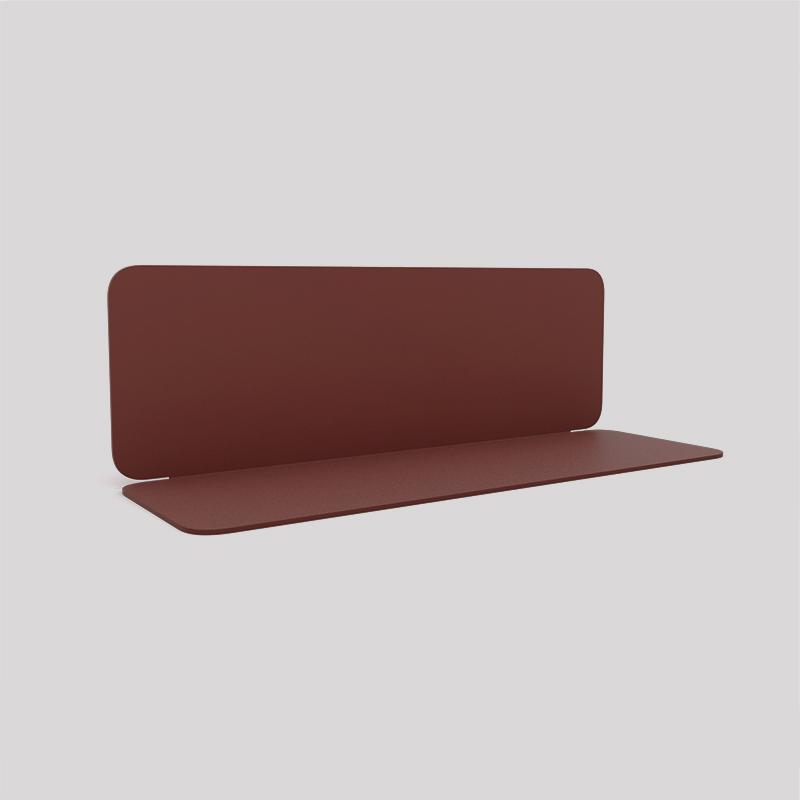 Etagère murale en acier couleur red brown métallisé