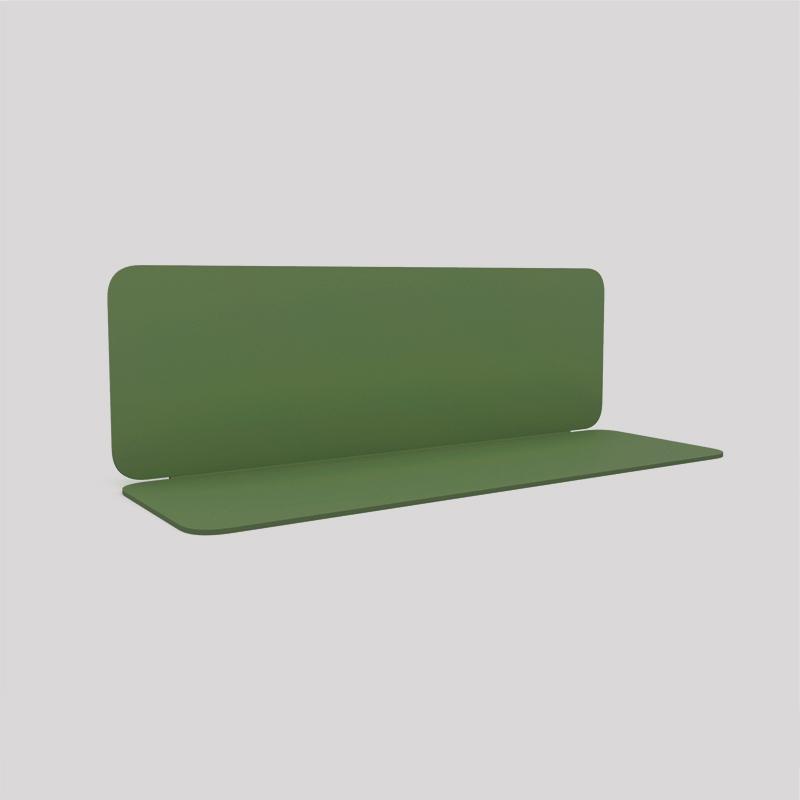 Etagère murale en acier couleur verte