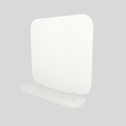 Un serre-livres en acier aimanté à sa base, couleur blanc