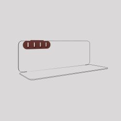 Porte-clefs en acier fixé sur l'étagère en acier Aventurine, couleur red-brown métallisé
