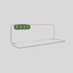 Porte-clefs en acier fixé sur l'étagère en acier Aventurine, couleur vert