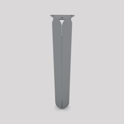Pied créatif à visser en acier couleur gris métallisé
