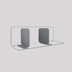 Serre-livres en acier aimantés à leur base, lot de 2, couleur gris métallisé