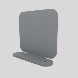 Un serre-livres en acier aimanté à sa base, couleur gris métallisé