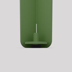 Bas du pied créatif à visser en acier, 2 hauteurs, couleur vert