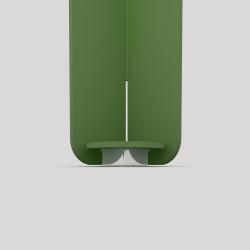 Bas du pied créatif à visser en acier couleur verte