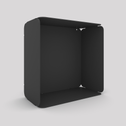 Cube mural avec voile de fond couleur carbone