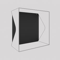 Plaque du cube-étagère échancré en acier, carbone